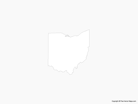 Free Vector Map of Ohio - Outline