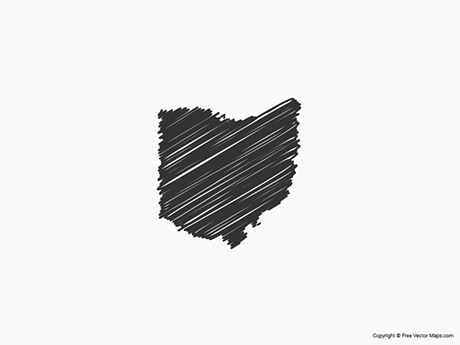 Free Vector Map of Ohio - Sketch