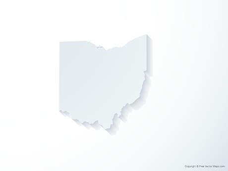 Free Vector Map of Ohio - 3D