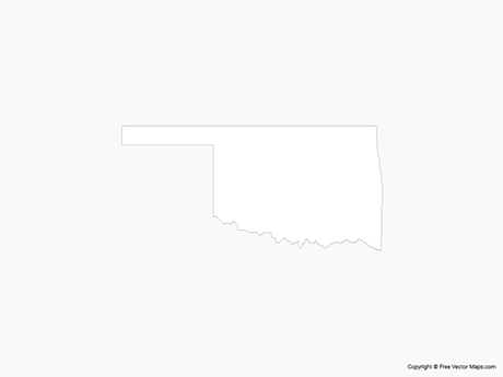 Map of Oklahoma - Outline