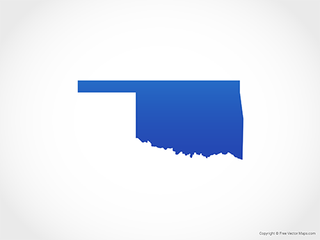 Free Vector Map of Oklahoma - Blue