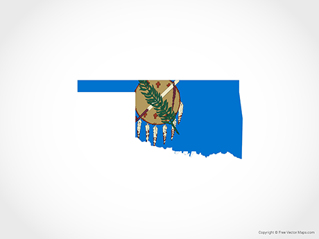 Free Vector Map of Oklahoma - Flag