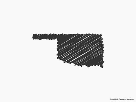 Free Vector Map of Oklahoma - Sketch
