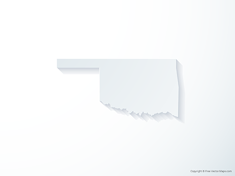 Free Vector Map of Oklahoma - 3D
