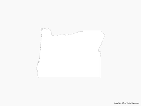 Map of Oregon - Outline
