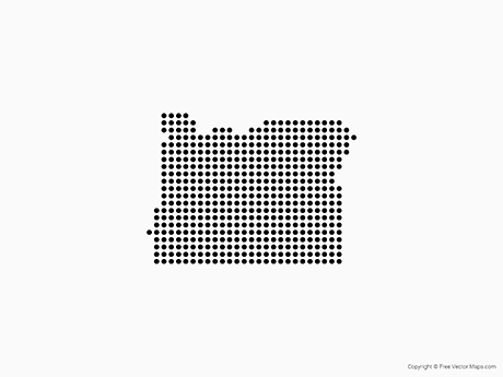 Free Vector Map of Oregon - Dots