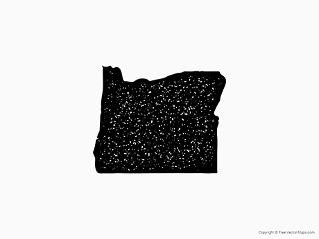 Free Vector Map of Oregon - Stamp