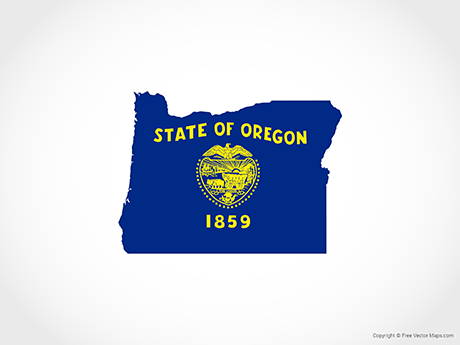 Free Vector Map of Oregon - Flag