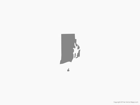 Map of Rhode Island - Single Color