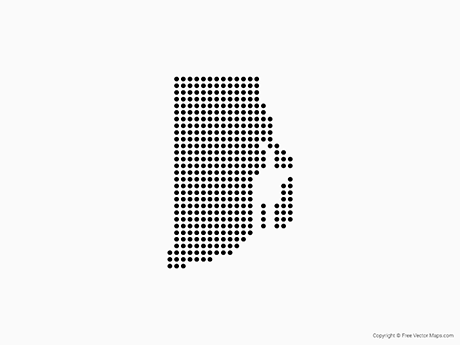 Free Vector Map of Rhode Island - Dots