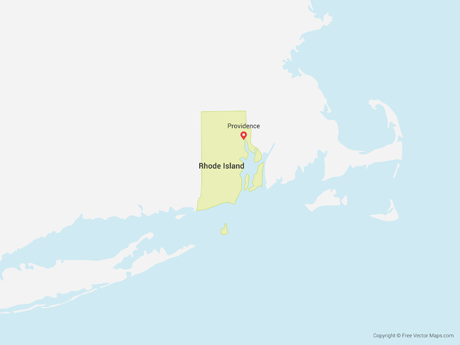 Vector Map of Rhode Island | Free Vector Maps