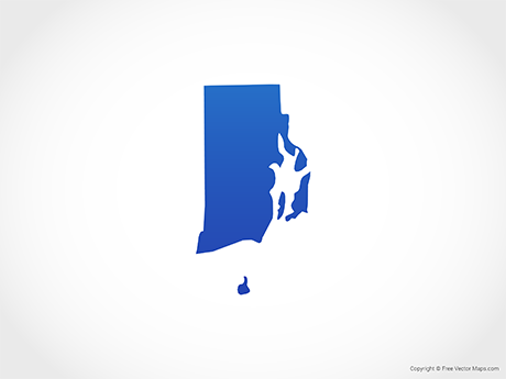 Free Vector Map of Rhode Island - Blue