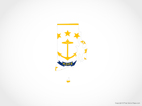 Free Vector Map of Rhode Island - Flag