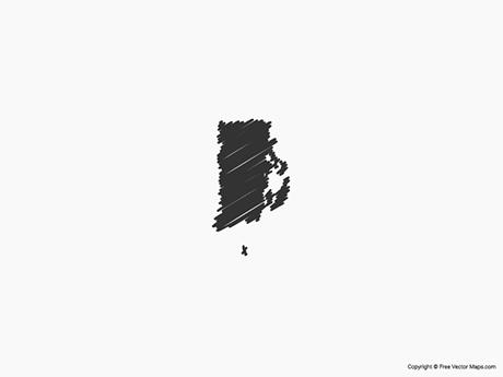 Free Vector Map of Rhode Island - Sketch
