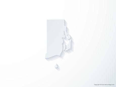 Free Vector Map of Rhode Island - 3D