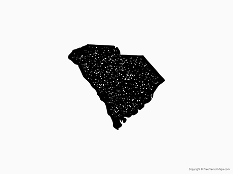 Free Vector Map of South Carolina - Stamp