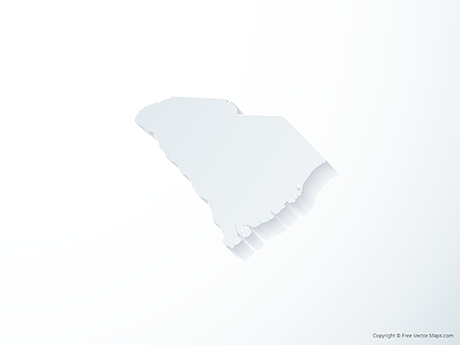 Free Vector Map of South Carolina - 3D