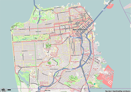 Vector Map of San Francisco Free Vector Maps