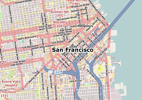 Vector Map of San Francisco | Free Vector Maps