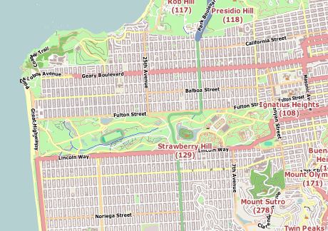 Vector Map of San Francisco