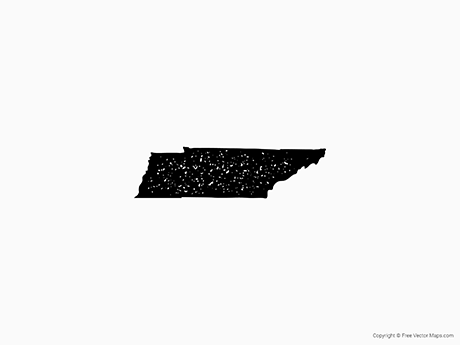 Free Vector Map of Tennessee - Stamp