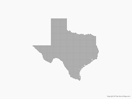 Free Vector Map of Texas - Dots