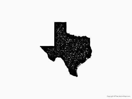 Free Vector Map of Texas - Stamp