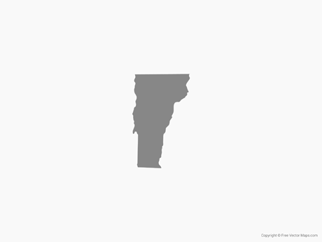Free Vector Map of Vermont - Single Color