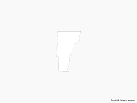 Free Vector Map of Vermont - Outline