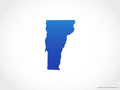 Free Vector Map of Vermont - Blue