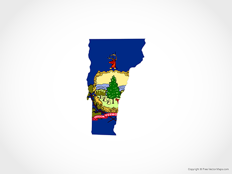 Free Vector Map of Vermont - Flag