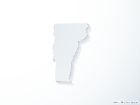 Free Vector Map of Vermont - 3D