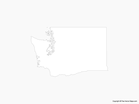 Free Vector Map of Washington - Outline