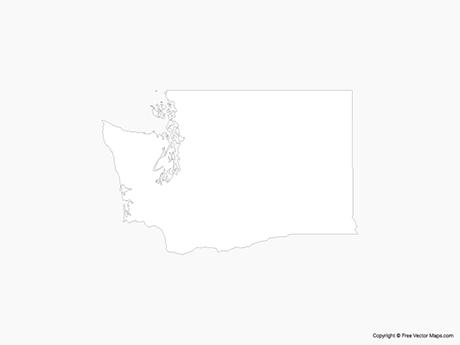 Map of Washington - Outline
