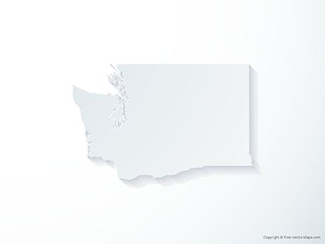 Free Vector Map of Washington - 3D