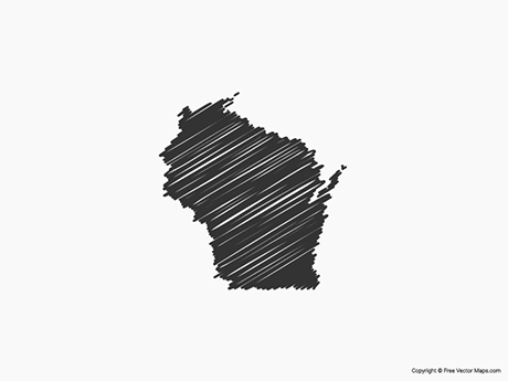 Map of Wisconsin - Sketch