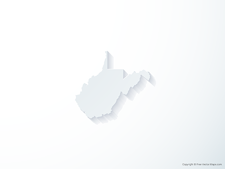 Free Vector Map of West Virginia - 3D