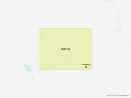 Free Vector Map of Wyoming
