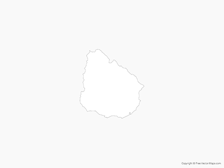 Free Vector Map of Uruguay - Outline