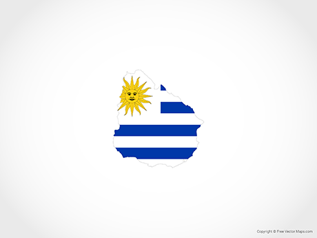 Free Vector Map of Uruguay - Flag