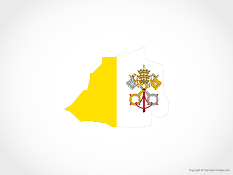 Free Vector Map of Vatican City - Flag