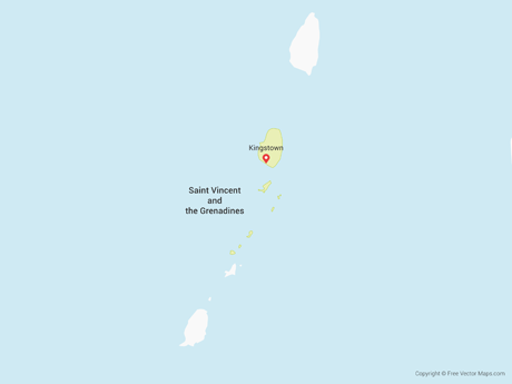 Free Vector Map of Saint Vincent and the Grenadines