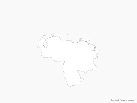 Free Vector Map of Venezuela - Outline