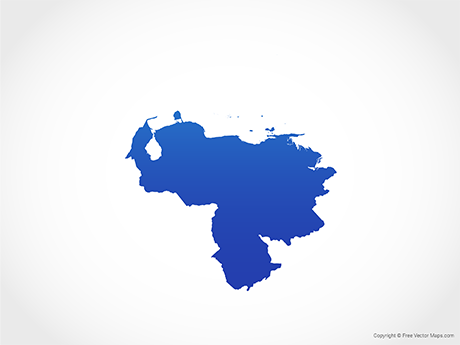 Free Vector Map of Venezuela - Blue