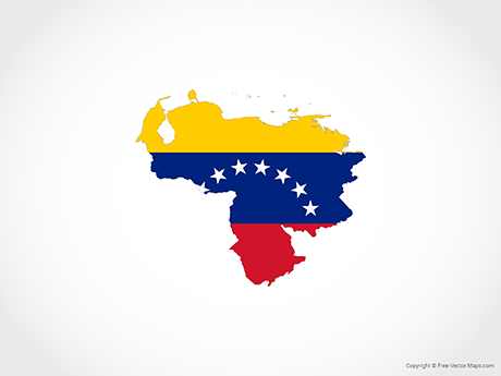 Free Vector Map of Venezuela - Flag