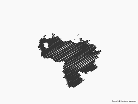 Free Vector Map of Venezuela - Sketch