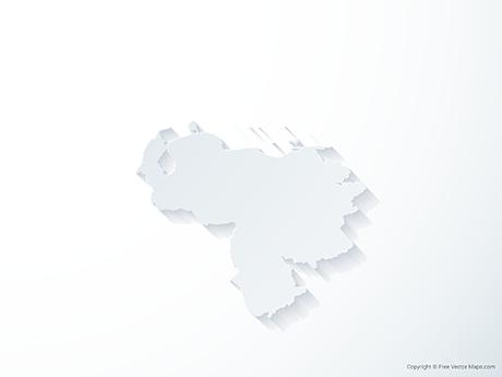 Free Vector Map of Venezuela - 3D