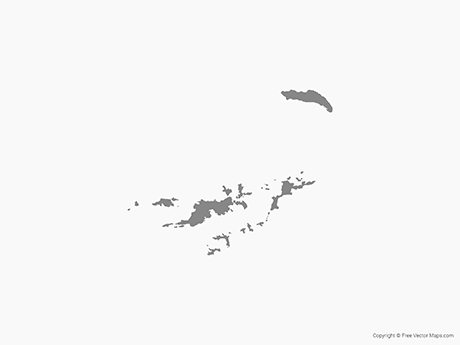 Free Vector Map of British Virgin Islands - Single Color