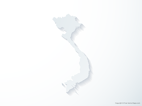 Free Vector Map of Vietnam - 3D