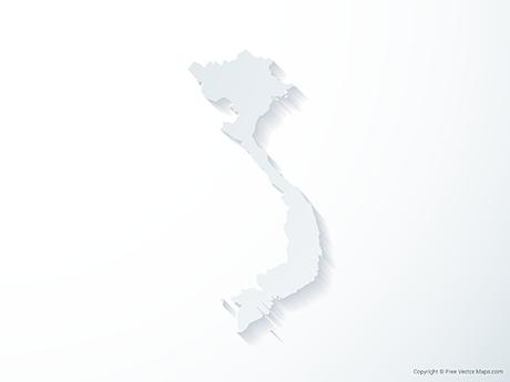Free Vector Map of Vietnam - 3D